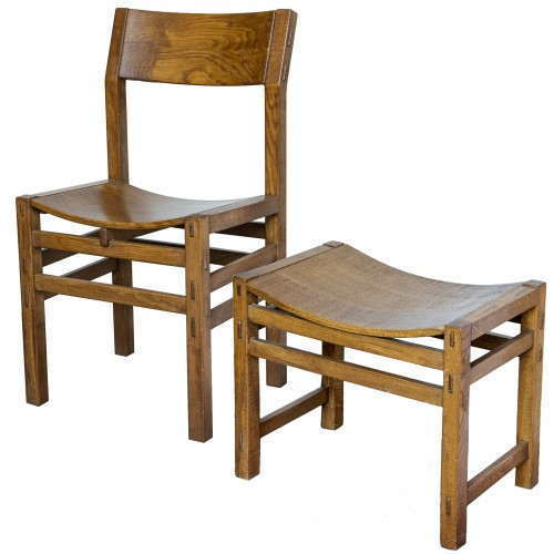 Set of 8 chairs and 2 stools by G. Rivadossi