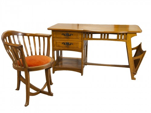 Gustave Serrurier Bovy (1858-1910) - Set of desk and chair