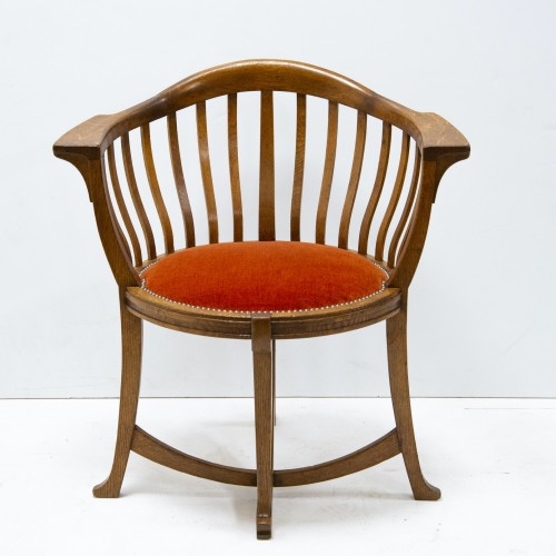 Gustave Serrurier Bovy (1858-1910) - Set of desk and chair - Furniture Style Art nouveau