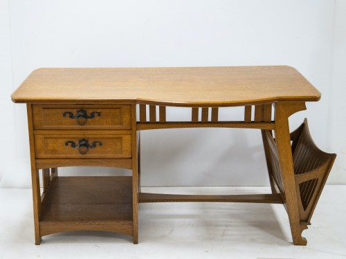 Gustave Serrurier Bovy (1858-1910) - Set of desk and chair -