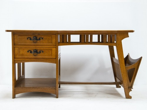 20th century - Gustave Serrurier Bovy (1858-1910) - Set of desk and chair