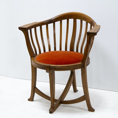 Antiquités - Gustave Serrurier Bovy (1858-1910) - Set of desk and chair