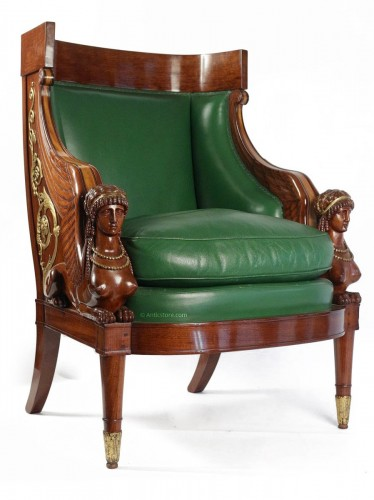 FrenchLouis-Philippe fauteuil  stamped Antoine-Constant DONNADIEU