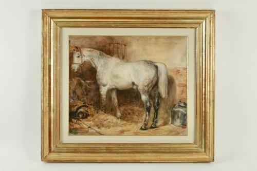 - Eugène-Louis Lami ( Paris 1800-1890 ) - Horse of the Duc de Nemours