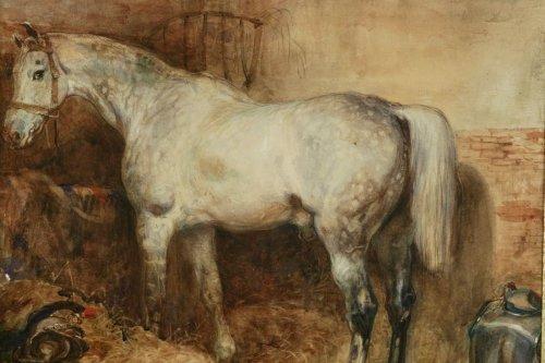 Antiquités - Eugène-Louis Lami ( Paris 1800-1890 ) - Horse of the Duc de Nemours