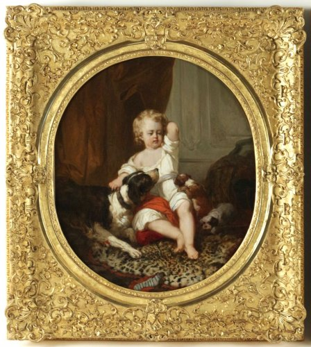 Joseph Beaume ( 1796-1885 ) - Young boy and girl - Paintings & Drawings Style