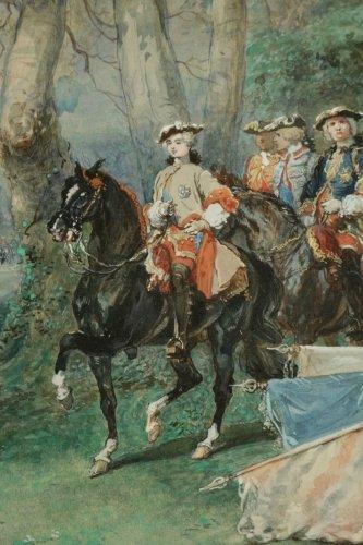 Paintings & Drawings  - Eugene-Louis Lami (1800-1890)