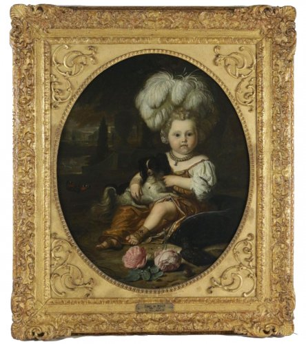 Karel de Moor (1655-1738) - Youg cchild with dog