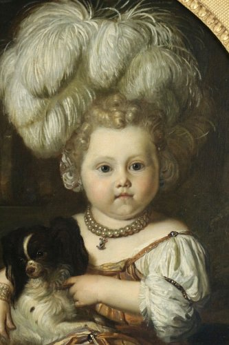 Paintings & Drawings  - Karel de Moor (1655-1738) - Youg cchild with dog