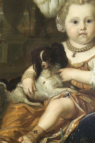 Karel de Moor (1655-1738) - Youg cchild with dog -