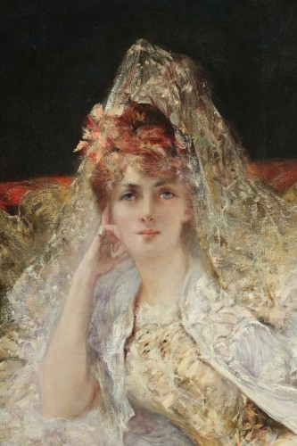 Antiquités - Georges-Jules-Victor CLAIRIN (1843-1919) - Woman with mantilla