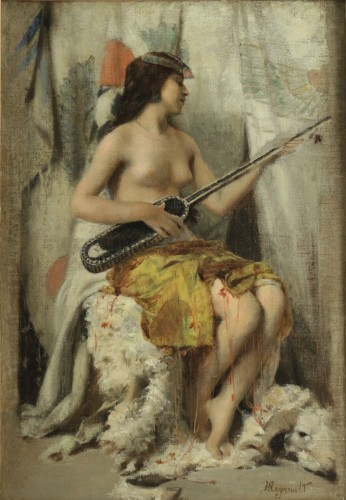 Henri Regnault (1843-1871) - Young Oriental woman - Paintings & Drawings Style