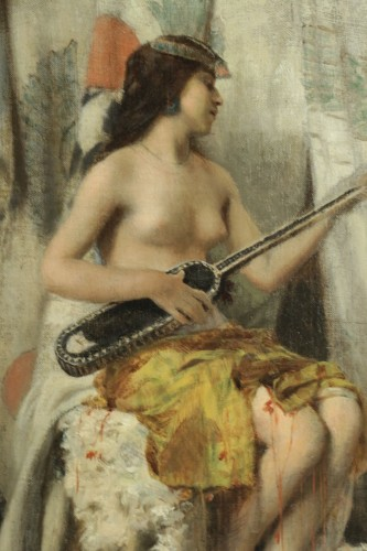 Paintings & Drawings  - Henri Regnault (1843-1871) - Young Oriental woman