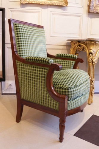French Empire Bergere in mahogany stamped Marcion - Seating Style Empire
