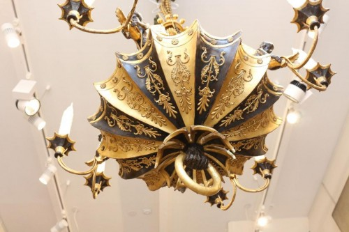 Directoire period wooden chandelier - Lighting Style Directoire