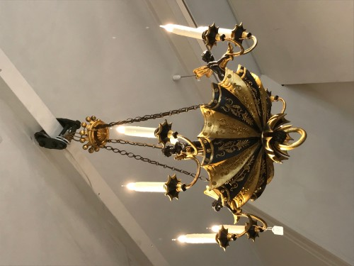 Lighting  - Directoire period wooden chandelier