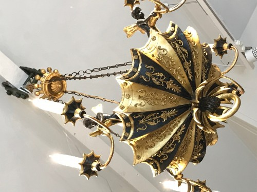 18th century - Directoire period wooden chandelier