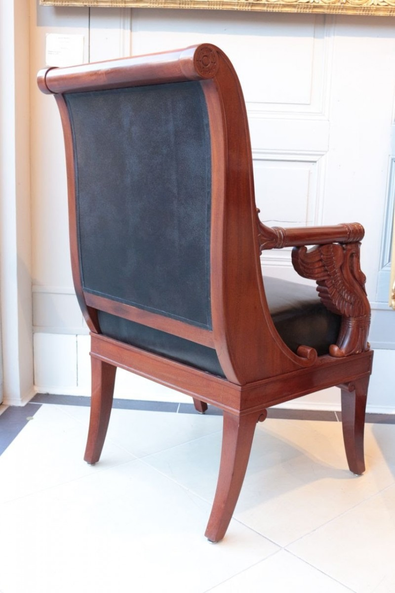 Large Fauteuil In Mahogany By PierreAntoine Bellangé - Fauteuil large