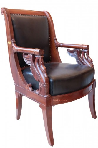 Large Fauteuil in mahogany  by Pierre-Antoine Bellangé (1757-1827)