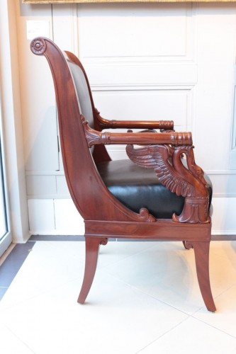 Seating  - Large Fauteuil in mahogany  by Pierre-Antoine Bellangé (1757-1827)