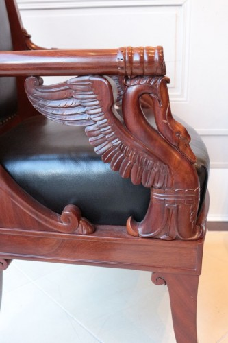 Large Fauteuil in mahogany  by Pierre-Antoine Bellangé (1757-1827) -