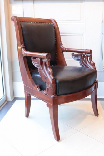 Empire - Large Fauteuil in mahogany  by Pierre-Antoine Bellangé (1757-1827)