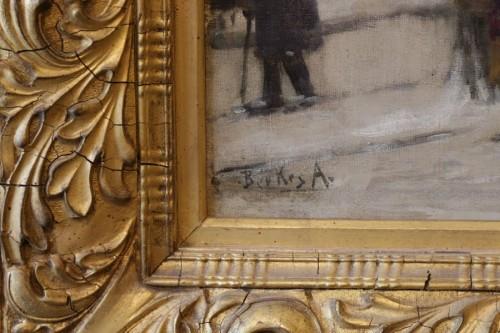 View of Budapest - Antal Berkes (1874-1938) - Paintings & Drawings Style