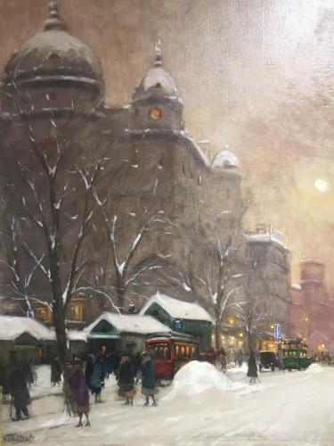 - View of Budapest - Antal Berkes (1874-1938)