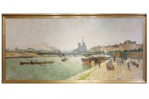 Eugène Giraud (1849 - 1937) - Panoramic view of Paris
