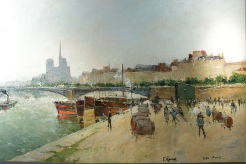 Eugène Giraud (1849 - 1937) - Panoramic view of Paris - Paintings & Drawings Style