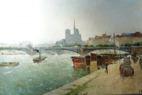 Paintings & Drawings  - Eugène Giraud (1849 - 1937) - Panoramic view of Paris