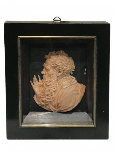 Wax profile of the Philosopher HERACLITUS - Leonhard POSCH (1750-1831)