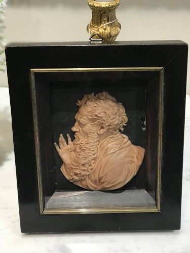 Wax profile of the Philosopher HERACLITUS - Leonhard POSCH (1750-1831) -