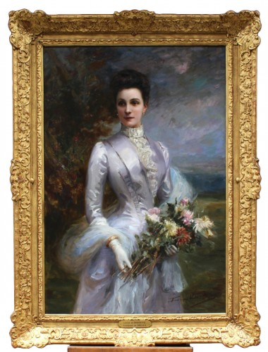 Fréderic Vallet Bisson (1862-1949) - Portrait of Louise de Bonneval