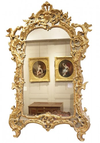 A French Rgence Giltwood Mirror