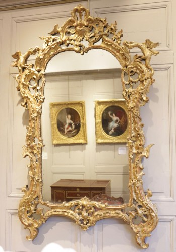 A French Rgence Giltwood Mirror - Mirrors, Trumeau Style French Regence