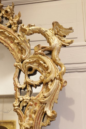 18th century - A French Rgence Giltwood Mirror
