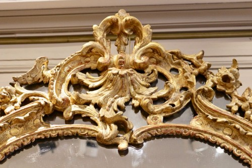 A French Rgence Giltwood Mirror - French Regence