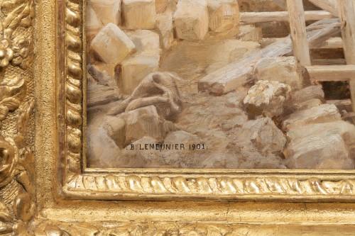 Paintings & Drawings  - Basile Lemeunier (1852-1922) - Constructing the Metropolitan (Paris)