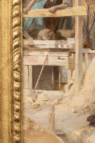19th century - Basile Lemeunier (1852-1922) - Constructing the Metropolitan (Paris)