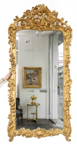 Grand miroir Louis XV