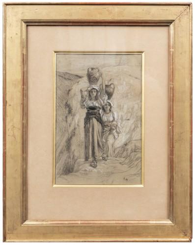 """""""Etude pour Les Filles d'Alvito"""" par Ernest Hébert."""