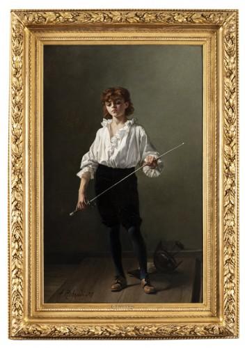 """""""La Leçon d'escrime"""" par Alcide-Théophile Robaudi."""