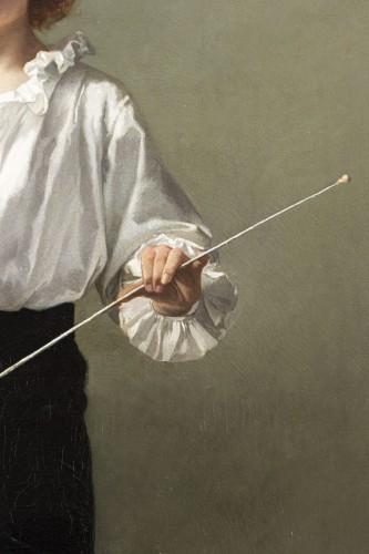 """19th century - """"La Leçon d'escrime"""" par Alcide-Théophile Robaudi."""