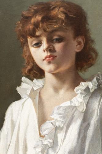 """Art nouveau - """"La Leçon d'escrime"""" par Alcide-Théophile Robaudi."""