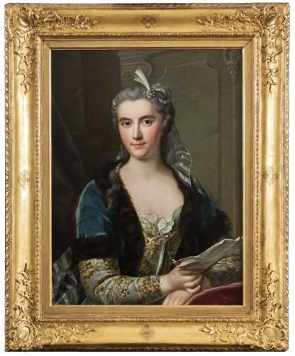 Presumed portrait of Marie Brûlart de La Borde duchesse de Luynes (vers 1684-1763)