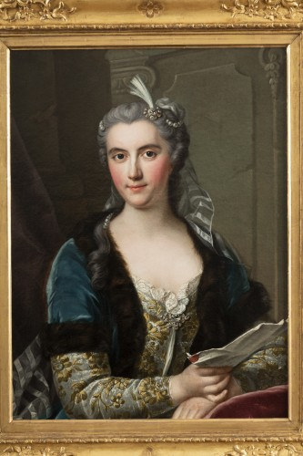 Presumed portrait of Marie Brûlart de La Borde duchesse de Luynes (vers 1684-1763) - Paintings & Drawings Style Louis XV