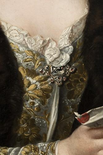Louis XV - Presumed portrait of Marie Brûlart de La Borde duchesse de Luynes (vers 1684-1763)