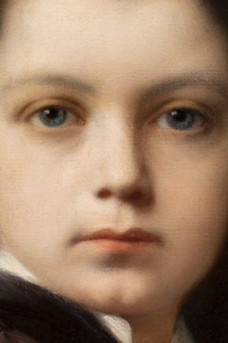 19th century - Nathaniel Sichel - Portrait of a young girl