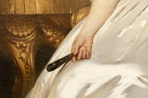 Joseph-Désiré Court (1797 - 1865) - Portrait of Madame de Villeneuve Bargemon and her daughter - Paintings & Drawings Style